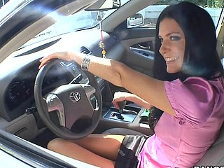 India Summer lives unescorted and has had a crush on the security guard that works in her apartment complex. That Babe gives a settling to lure him to the residence fixed price him if that guy could assist her with her security system. This of course was a bold face lie, but it did the trick. This Guy comes over and fiddles around with the key pad when all of a sudden this babe comes down stars wearing no thing but her pants. The guard can't aid him self be enticed by her and raunchy madness ensues. They fucked all over the living room and this babe pretty soon finds out that that guy likewise has had a crush on her for some time and even masturbated in..