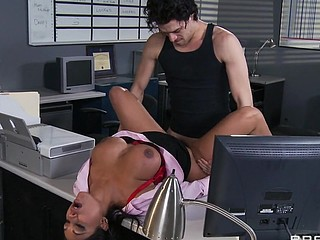 Priya and Xander are one as well as the other fighting for the same position at Glubbert Financial. The One And The Other are equally qualified, equally avaricious and thus, equally execrate each other as result. In a battle of wits, billibongs and dicks the two proceed to fuck each others brains out all over the office in order to settle the score, one time and for all. Who will jibe consent to out triumphant?