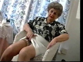 Teasing Old Granny In Stockings