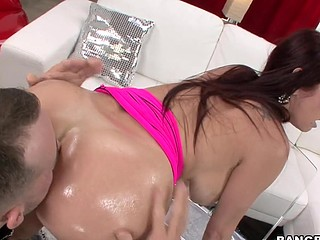 We have the infamous Tiffany Mynx in the abode this day. Now if u have at no time heard of her your unreservedly lost, rotfl. This Babe unreservedly likes to fuck and that babe completely can't live without to put large things in her a-hole. Ergo I invited my homie and his large dick over to pound her good pretty anal opening to sleep. Let me tell u that if anyone is getting put to sleep its my guy, haha. This Babe knows exactly what to do and what to say and the flawless time when to say it to make u unreservedly bust a load. that babe is a ideal definition of a professional porn star.